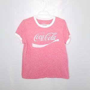 Coca Cola Vintage Look Graphic Tee Size Large
